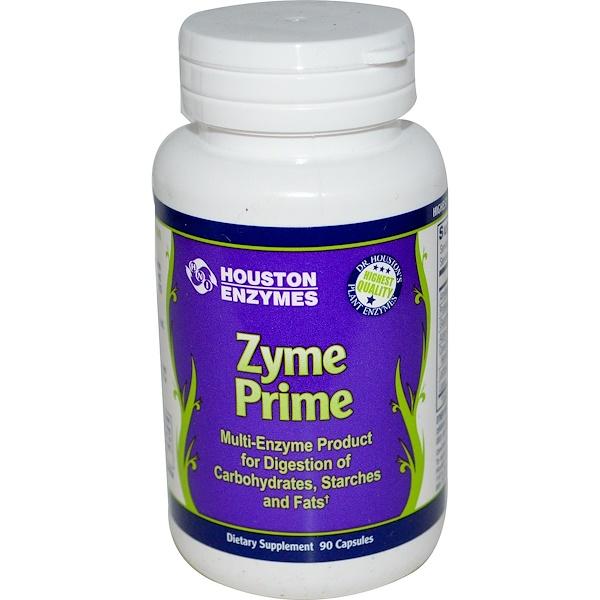Houston Enzymes, Zyme Prime, Multi-Enzyme, 90 Capsules