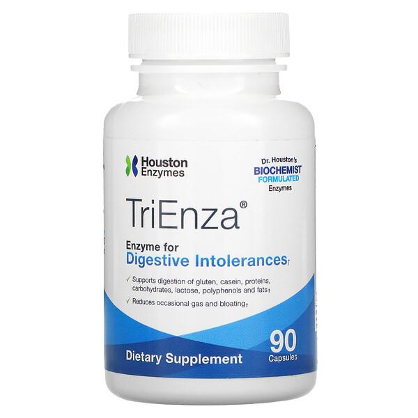 TriEnza, ферменты помогающие при пищевой непереносимости, 90капсул