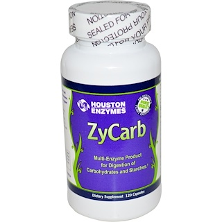 Houston Enzymes, ZyCarb, Multi-Enzyme, 120 Capsules