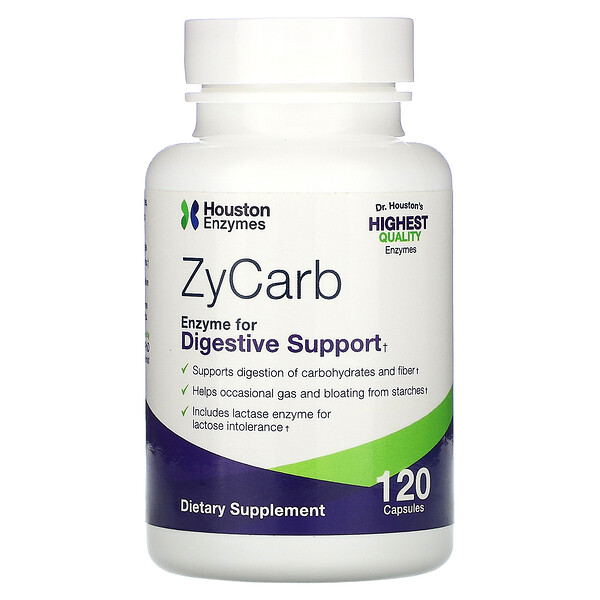 Houston Enzymes, ZyCarb, 120 капсул (Discontinued Item)
