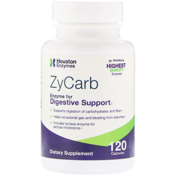 Houston Enzymes, ZyCarb, 120 капсул
