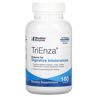 Houston Enzymes, TriEnza, Enzyme For Digestive Intolerances, 180 Capsules