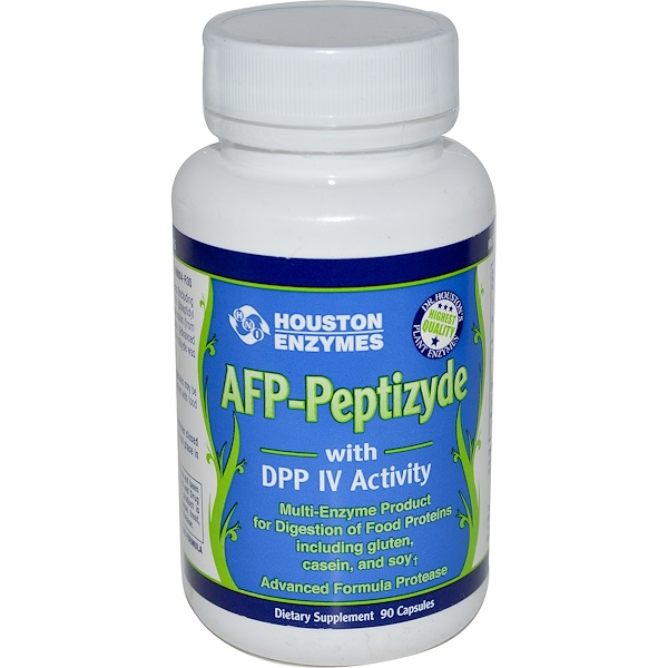Houston Enzymes, AFP-Peptizyde with DPP IV Activity, with Rice Bran, 90 Capsules (Discontinued Item)