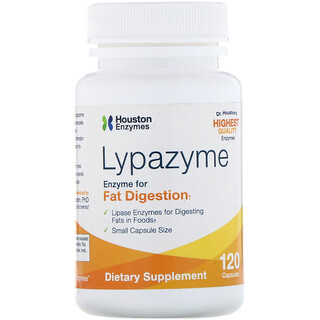 Houston Enzymes, Lypazyme, 120 Capsules