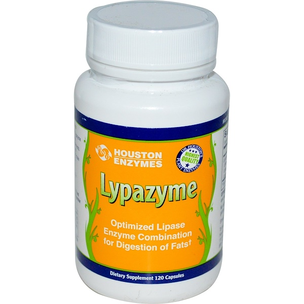 Houston Enzymes, Липазим, 120 капсул