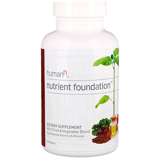 HumanN, Nutrient Foundation, Plus Essential Vitamins & Minerals, 90 Tablets