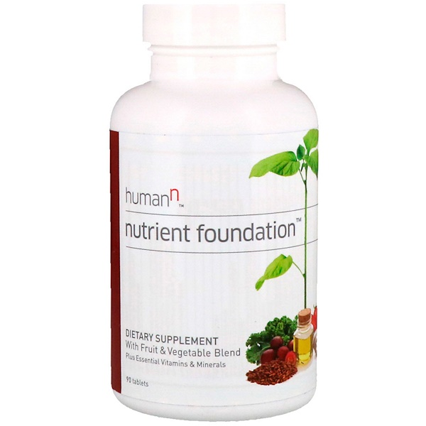 HumanN, Nutrient Foundation, Plus Essential Vitamins & Minerals, 90 Tablets (Discontinued Item)