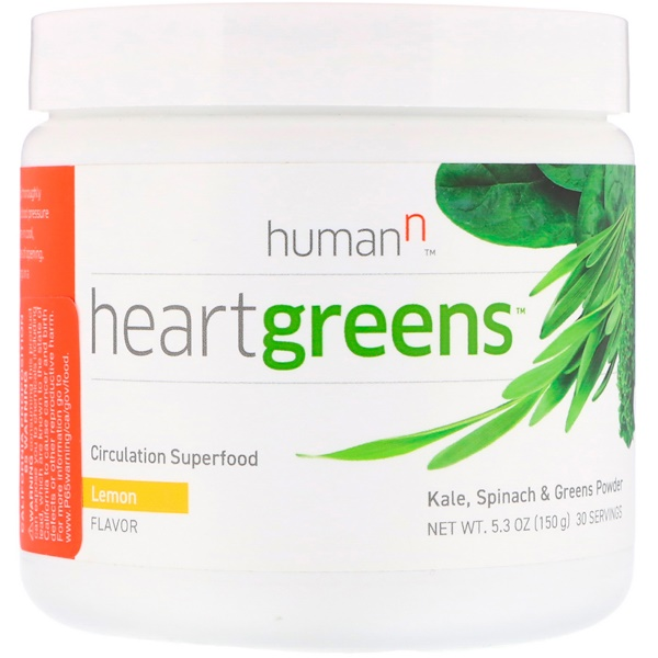 HumanN, Heartgreens, Circulation Superfood, Lemon Flavor, 5.3 oz (150 g)