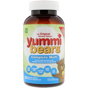 Хиро Нутришнэл Продуктс, Yummi Bears, Complete Multi, Natural Strawberry, Orange and Pineapple Flavors, 200 Yummi Bears отзывы