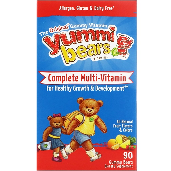 Hero Nutritional Products, Yummi Bears, Complete Multi-Vitamin, All Natural Fruit Flavor, 90 Gummy Bears