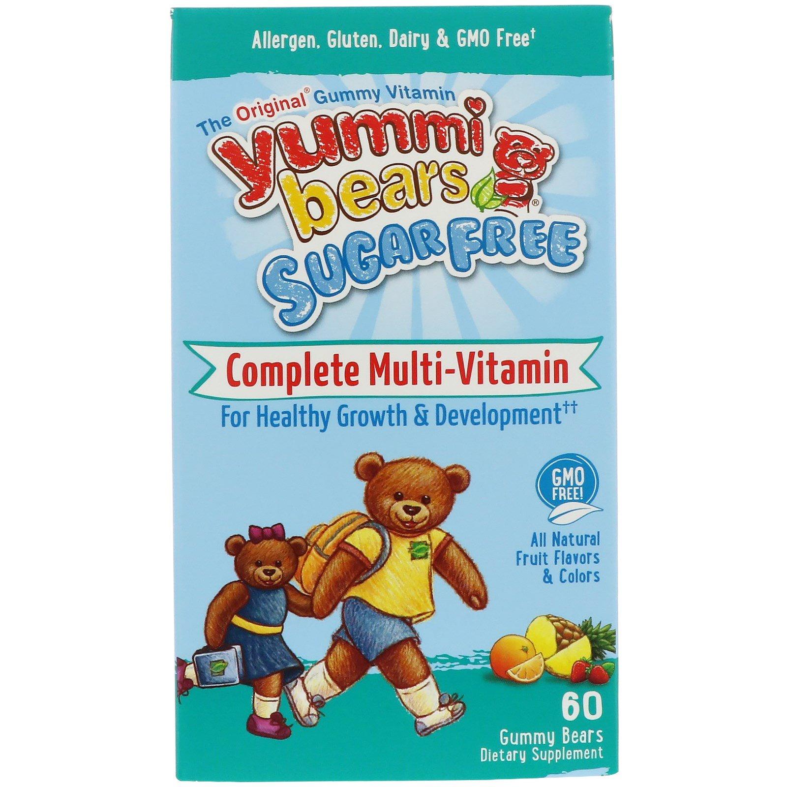 Hero Nutritional Products, Вкусные мишки, полный комплекс мультивитаминов, без сахара, только натуральные фруктовые вкусы, 60 жевательных мишек