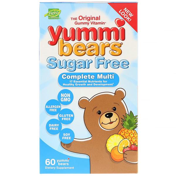 Hero Nutritional Products, 美味熊,完全綜合維生素,全天然水果味,60 顆軟糖