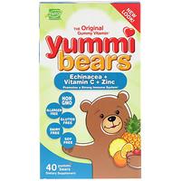 Yummi Bears, Эхинацея + витамин C + цинк, 40 мишек - фото