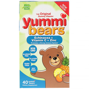 Хиро Нутришнэл Продуктс, Yummi Bears, Echinacea + Vitamin C + Zinc, 40 Yummi Bears отзывы покупателей