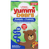 Hero Nutritional Products, Yummi Bears, probiotisch + präbiotisch, natürliche Erdbeer- und Orangenaromen, 60 Gummibären.