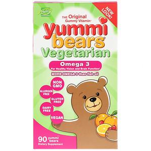 Хиро Нутришнэл Продуктс, Yummi Bears, Vegetarian, Omega 3 , 90 Yummi Bears отзывы