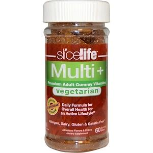 Хиро Нутришнэл Продуктс, Slice of Life, Vegetarian, Multi + Premium Adult Gummy Vitamins, 60 Gummy Slices отзывы