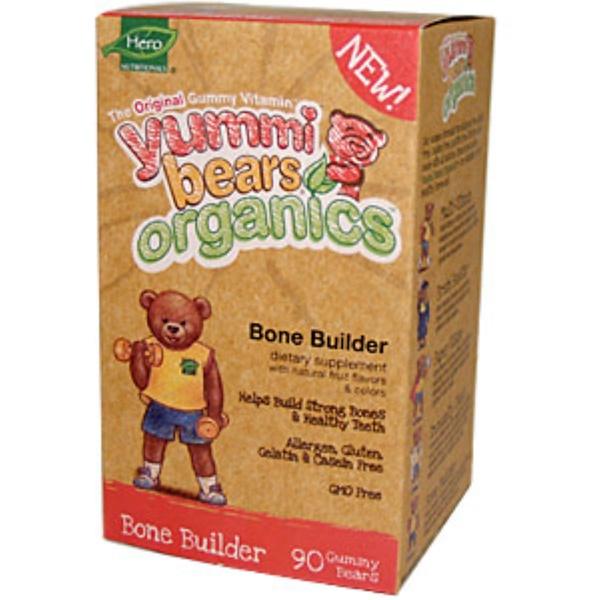 Hero Nutritional Products, Yummi Bears Organics, Bone Builder, 90 Gummy Bears (Discontinued Item)