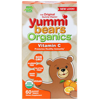 Hero Nutritional Products, Yummi Bears Organics, Vitamin C, 60 Yummi Bears