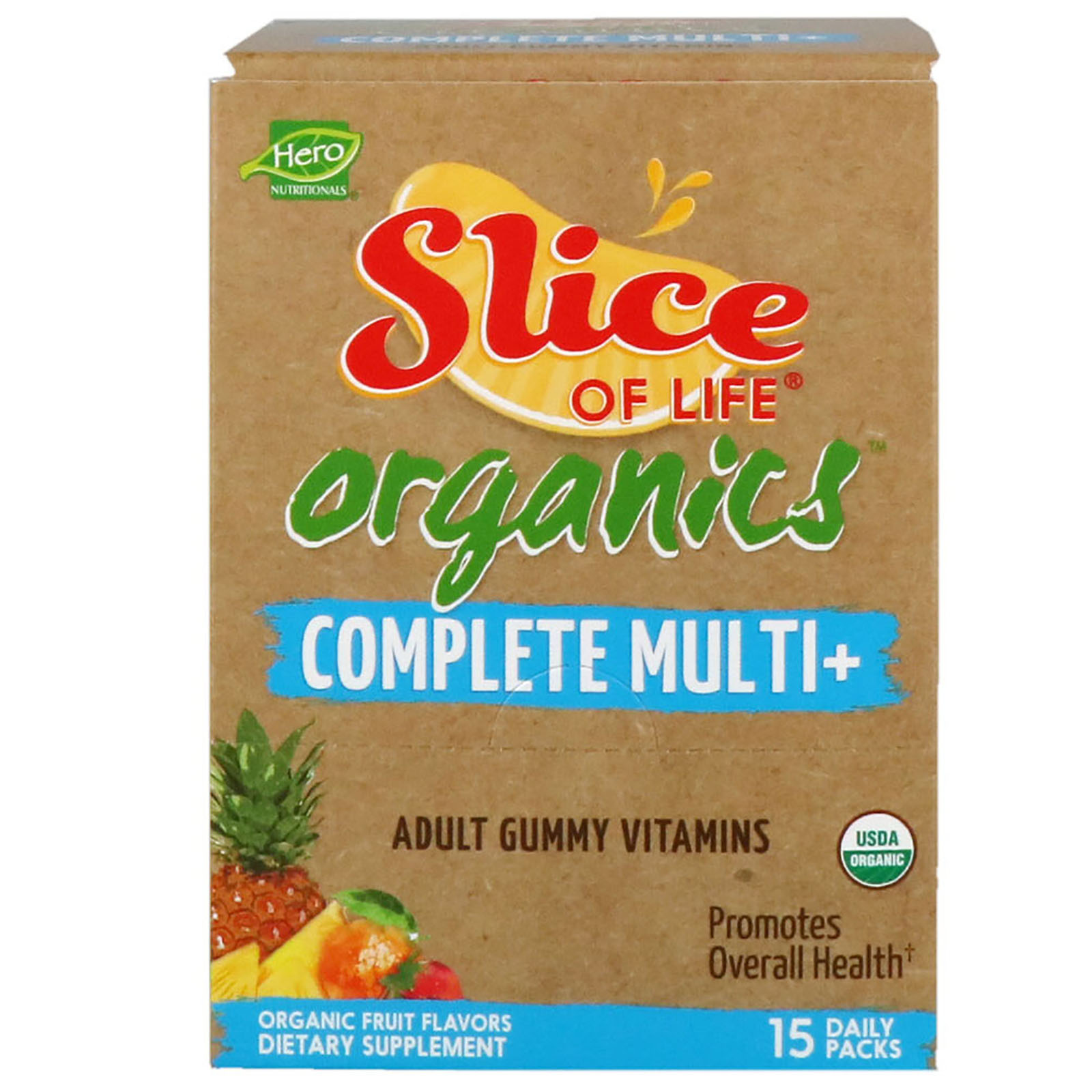 Hero Nutritional Products, Slice of Life Organics, Adult Gummy ...