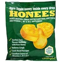 Honees, 꿀 멘톨 유칼립투스 기침 억제제, 20 알