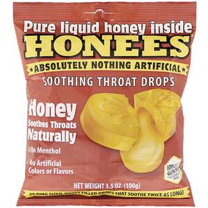 Хонис, Soothing Throat Drops, Honey, 20 King Size Drops отзывы покупателей