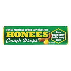 Honees, Menthol Eucalyptus Cough Drops, 9 Drops