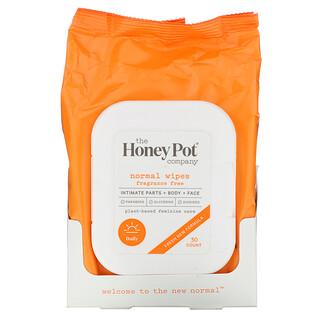 The Honey Pot Company, 普通濕巾,無香料,30 片
