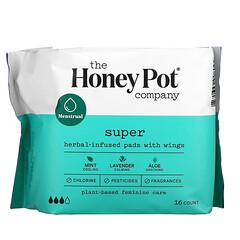 The Honey Pot Company, 草本浸入式護翼衛生巾,超大,16 片