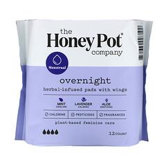 The Honey Pot Company, 草本浸入式護翼衛生巾,夜用,12 片