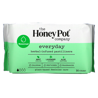 The Honey Pot Company, Everyday Herbal-Infused Pantiliners, 30 Count