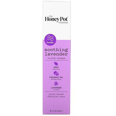 Купить The Honey Pot Company Soothing Lavender, Vulva Cream, 1 fl oz (30 ml)