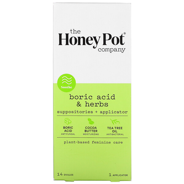 Boric Acid & Herbs, Suppositories + Applicator, 14 Ovule, 1 Applicator