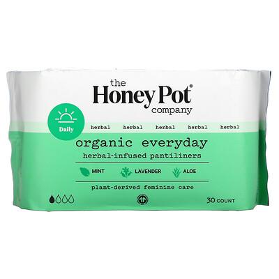 Купить The Honey Pot Company Organic Everyday Herbal-Infused Pantiliners, 30 Count