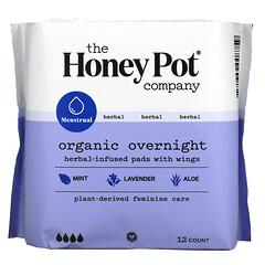 The Honey Pot Company, 有機草本浸入式護翼衛生巾,夜用,12 片