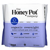 The Honey Pot Company, Organic Herbal-Infused Pads with Wings, Overnight, 12 Count
