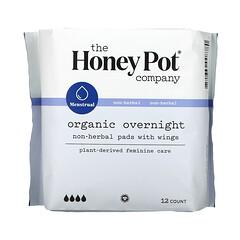 The Honey Pot Company, 非草本護翼護墊,有機夜用,12 片