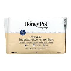 The Honey Pot Company, 草本浸入式護翼棉柔護墊,有機尿失禁護墊,夜用,16 片