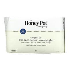 The Honey Pot Company, 非草本護翼棉柔護墊,夜間有機失禁,16 片