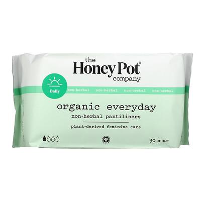 Купить The Honey Pot Company Organic Everyday Non-Herbal Pantiliners, 30 Count