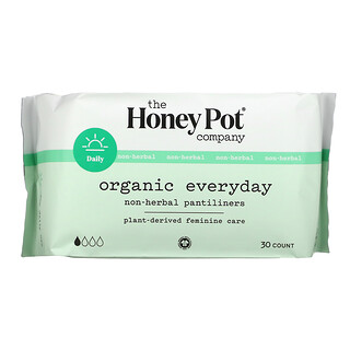 The Honey Pot Company, Organic Everyday Non-Herbal Pantiliners,  30 Count