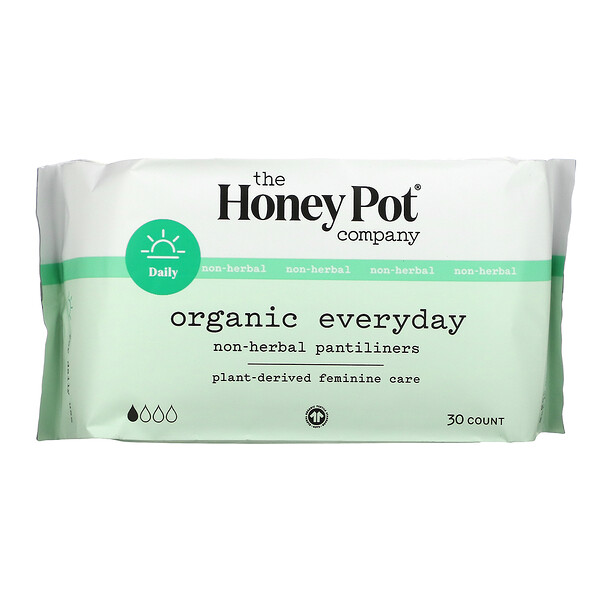Organic Everyday Non-Herbal Pantiliners,  30 Count
