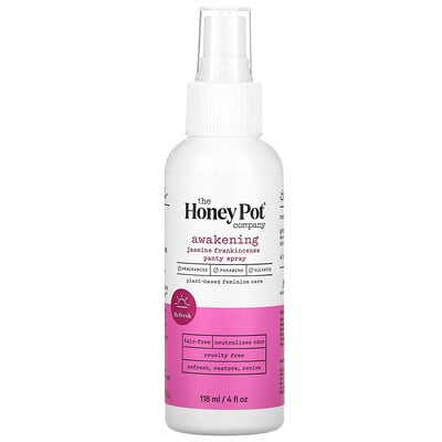 The Honey Pot Company Awakening Jasmine Frankincense Panty Spray, 4 fl oz (118 ml)  - купить со скидкой