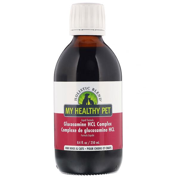 Holistic Blend, «Здоровый питомец», в жидкой форме, комплекс с гидрохлоридом глюкозамина, для собак и котов, 250мл