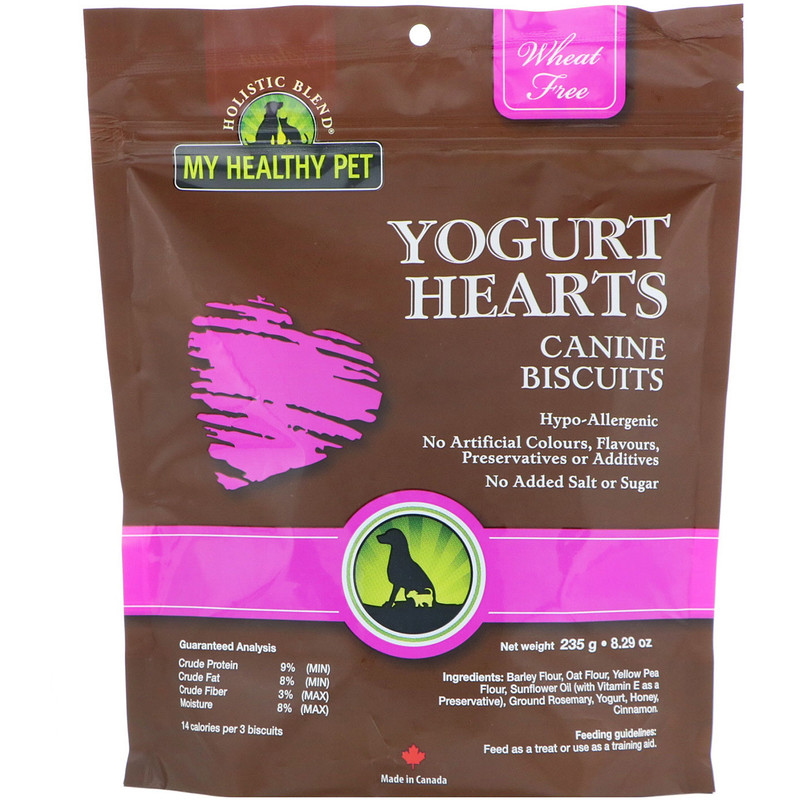 Holistic Blend, My Healthy Pet, Yogurt Hearts, Canine Biscuits, 8.29 oz (235 g)