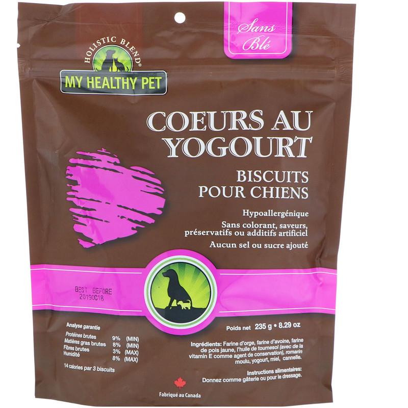 Holistic Blend, My Healthy Pet, Yogurt Hearts, Canine Biscuits, 8.29 oz (235 g) - photo 1