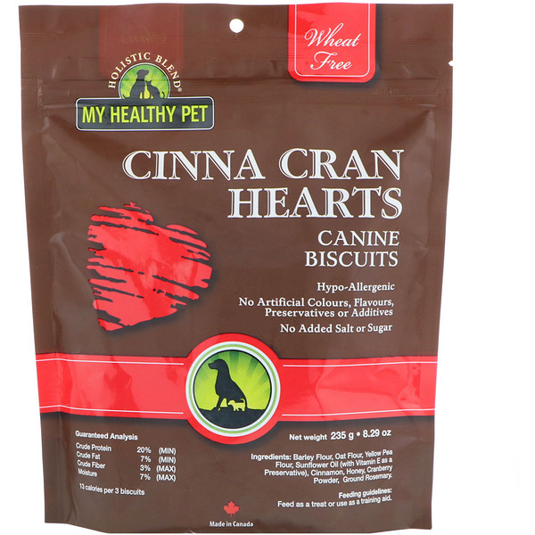Holistic Blend, My Healthy Pet, Cinna Cran Hearts, Canine Biscuits, 8.29 oz (235 g) (Discontinued Item)