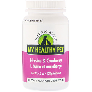 Holistic Blend, My Healthy Pet, L-lysine & Cranberry, For Dogs & Cats, 4.5 oz (128 g)