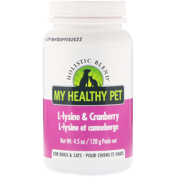 Holistic Blend, My Healthy Pet, L-lysine & Cranberry, For Dogs & Cats, 4.5 oz (128 g) (Discontinued Item)