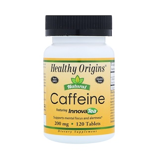 Healthy Origins, Natural Caffeine, Featuring InnovaTea, 200 mg , 120 Tablets
